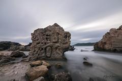 The Holy Stone in Salinas (Miguel Martin Ibiza) Tags: rock longexposure nikon nikond750 landscape water beach salinas ibiza winter 2018 calm