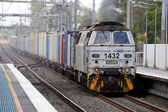Trip Train (PJ Reading) Tags: train rail railway track transport travel transportation cargo goods freight locomotive intermodal container superfreighter diesel 14class qube denmark nohab minto sydney south southern suburbs ingleburn