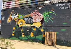 Mechanical Turk by Mike Makatron (wiredforlego) Tags: graffiti mural streetart urbanart aerosolart publicart brooklyn williamsburg newyork nyc ny makatron mikemakatron