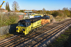 70802 + 70805 - March West Junction - 18/11/18. (TRphotography04) Tags: colas rail freight 70802 70805 creep past march west junction on approach whitemoor yard working 6c77 1155 sleaford ldc gbrf