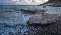 Aegean Soul (Nebelkuss) Tags: santorini akrotiri playaroja redbeach azul blue horaazul bluehour mar maregeo sea aegeansea fujixpro1 fujinonxf18f2
