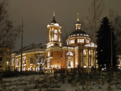 Church of the Holy Great Martyr Barbara (Moscow) (janepesle) Tags: moscow russia architecture church night light travel city cityscape outdoors park winter temple orthodox