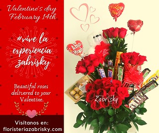 """Being deeply loved by someone gives you strength, while loving someone deeply gives you courage"". - Lao Tzu  *_February 14th: Beautiful roses delivered to your Valentine._*  Online store: https://floristeriazabrisky.com/collections/valentine-s-day-februa"
