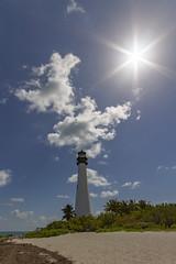 Cape Florida Lighthouse (Notkalvin) Tags: capeflorida lighthouse light beach sun intothesun outdoors shore sandy clouds canon mikekline notkalvinphotography florida beacon