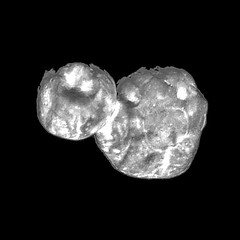 Ultima Thule, Deconvolved, variant (sjrankin) Tags: 28january2019 edited grayscale ultimathule newhorizons asteroid comet processed deconvolved primage