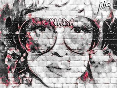 my graffiti (madalina bita) Tags: graffiti face figure glasses culture self portrait city life wall art madalinabitaimages madalinabitaphotos street cityscape blocks
