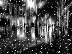 rainy morning (Eggii) Tags: rain morning street walk city winter blackandwhite bw monochrome