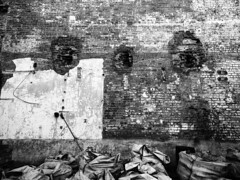 (GLKPhotos) Tags: wall oldbuilding bricks mortar construction old remnant details bags tones tonalcontrast contrast refuse belfast hometown local oldmill unused derelict blackandwhite monochrome mono structure abandoned urban city yorkstreetmillhouse northernireland