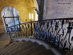Series Old Prague Castle - N3 (mariagrandi985) Tags: stair stone stonewall iron ironfence wroughtironstairrailing wroughtiron stairrailing irongate column oldwalls oldcolumn arch architecture architecturedetails architecturedecoration archesinarchitecture architectureandarches perspective lookingdown learningcomposition perfectcomposition composition oldarchitecture oldbuilding oldwall history historyaroundus historicbuilding historicsite historicarchitecture oldpraguecastle pragueczechrepublic europe capitalsofeurope ligth lightandarchitecture uploadedondecember152019 mariagrandi985 texture texturedwall metal metallic