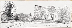 St Nicholas Church, Nether Winchendon (oxlade134) Tags: netherwinchendon church eglise sketch pen ink drawing buckinghamshire