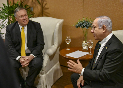 Election meddlers: US Sec. of State Mike Pompeo and Israeli PM Benjamin Netanyahu
