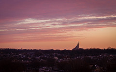 The Basilica of the National Shrine of the Immaculate Conception (ep_jhu) Tags: morning washington 7d pink basilicaofthenationalshrineoftheimmaculateconception sunrise sky cua canon dc basilica dusk