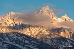 Middle, Grand, and Owen (kevin-palmer) Tags: december winter cold snow snowy grandtetonnationalpark tetons mountains morning sunrise dawn nikon180mmf28 telephoto clouds albrightoverlook grandteton sunlight blue sky mountowen middleteton nikond750 gold golden