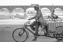 The Streets, Madurai (Geraint Rowland Photography) Tags: zsoltschuller cycle cycling transport ride riding bicycle wheels happy transportation congestion india streetphotography blackandwhitephotos wwwgeriantrowlandcouk life river bridge madurai scenesofindia happypeople green environmental candidphotography geraintrowlandstreetphotography visitindia canon canonindia canon5d4 gettyimages documentaryphotography