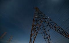 sky razor (pbo31) Tags: bayarea sanmateocounty night dark black nikon d810 color march 2019 boury pbo31 sanmateo shoreview utility power transmission electric lines bay