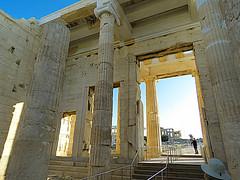 The Acropolis #3 (jimsawthat) Tags: ancient stone ruins acropolis propylaea urban athens greece