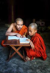 myanmar 2019 (mauriziopeddis) Tags: monk monaco monastery satay burma birmania asia myanmar teacher school student lesson portrait orange people tribe spiritual buddha buddhism canon color reportage