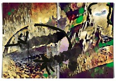 driving licence truth (kazimierz.pietruszewski) Tags: abstraction abstract form composition digipaint digitalart concept graphic colorful border diptych 21 truth