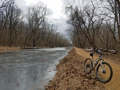 2019 Bike 180: Day 12 - Frozen C&O Canal (mcfeelion) Tags: cycling bike bicycle greatfallsmd cocanal winter bike180 2019bike180
