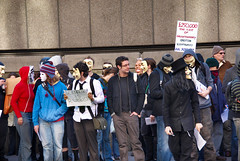 """080210_Scientology_003 (hoffman) Tags: activism activist anonymous antiscientology business campaign campaigner campaigning church crowd cult daylight demo demonstrate demonstrater demonstrating demonstration demonstrator dianetics disapproval dissapproval exploitation group horizontal outdoors placard protest protesting pseudo religion scientologists scientology street 181112patchingsetforimagerights uk davidhoffman davidhoffmanphotolibrary socialissues reportage stockphotos""""stock photostock photography"""" stockphotographs""""documentarywwwhoffmanphotoscom copyright"""