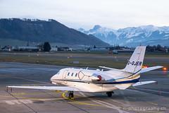Cessna Citation 560, G-OJER (www.il-photography.ch) Tags: aviationbeauport bernbelp businessjet cessna citation560excel gojer lszb parkiert business aviation vip biz jet berne switzerland mountain bern brn alps