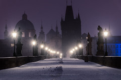 Snowy Prague (george papapostolou) Tags: prague czechrepublic charles bridges nikon nikond850 nikonphotographer travelphotography travel travelling architecture architectural