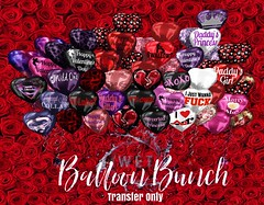 : WET : Balloon Bunch (: WET: Mainstore Second Life) Tags: secondlife sl avatar digital roleplay valentinesday balloons marketplace fantasy gift virtual valentine