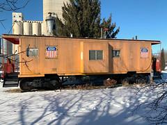 Schuyler, NE (TheNotoriousLEN) Tags: caboose schuyler nebraska unionpacific