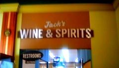 Liquor department sign -SS (Maenette1) Tags: wineandspirits sign jacksfreshmarket grocery menominee uppermichigan signsunday flicker365 allthingsmichigan absolutemichigan projectmichigan