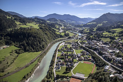Werfen (noname_clark) Tags: vacation europe austria hohenwerfencastle castle salzachriver river water city werfen