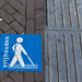 Guidelines for blind people on the sidewalk in Venlo, Netherlands