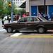 1980s scene re-creation: Mercedes-Benz sedan