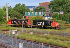 Les Canadiens (BravoDelta1999) Tags: canadiannational cn cnr railroad grandtrunk gt gtr railway pointesaintcharles yard montreal quebec canada emd gp9rm 7054 gp382 4707