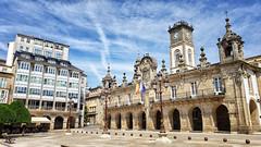 Plaza Mayor in Lugo, Galicia, Spain (Randy Durrum) Tags: plaza lugo spain unesco world heritage skies clouds durrum samsung s9