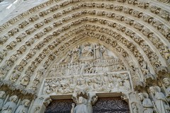 The portal of the judgment, Notre-Dame Cathedral, Paris (Tatiana12) Tags: paris notredame france gothic frenchgothic judgment portal doorway europe personaltour