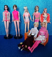 Girls from 60's 💙 (Lo_zio87_Barbie Collector) Tags: talking barbie hair fair dramatic new living redhead tnt 1968 1960 maledollcollector