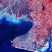 This image from NASA's Terra spacecraft shows Beihai, a city in the south of Guangxi, People's republic of China. Original from NASA. Digitally enhanced by rawpixel.