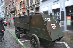 WWI armoured vehicle rides again in Mons. (greentool2002) Tags: wwi armoured vehicle rides again