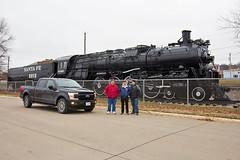 New and Old (Trainboy03) Tags: atchison topeka santa fe atsf 2913 ford f150 fort madison iowa ia