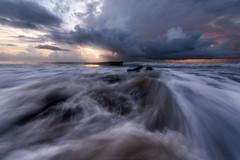 Drama Queen (Matt Creighton) Tags: saltwater atlanticocean ocean beach seashore morning sunrise waves water clouds rain storm sunlight seascape coastal esstcoast