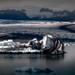 Glacier Lagoon with an Iceberg