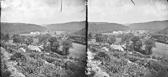 Deep in the valley O! (National Library of Ireland on The Commons) Tags: thestereopairsphotographcollection lawrencecollection stereographicnegatives jamessimonton frederickhollandmares johnfortunelawrence williammervynlawrence nationallibraryofireland valley woodedslopes houses viewpoint locationidentified woodenbridge countywicklow railway probablecataloguecorrection possiblecataloguecorrection flipped mirrored flipper