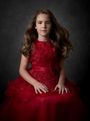 Ava (AleQueroDodge) Tags: girl baby fineart alejandradodgephotography portrait classic reddress alienbees canon fotodiox studio strobist