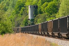 18-2630 (George Hamlin) Tags: virginia gladstone railroad freight train coal gondolas loads eastbound csx trees coaling tower track ballast photo decor george hamlin photography