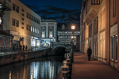 Another night in Lincoln (In Explore) (PhredKH) Tags: 50mm architecture bluehour bridge canoneos5dmkiii canonphotography ef50mmf18stm fredkh historical historicalbuildings lincoln nightphotography oldtown photosbyphredkh phredkh splendid townsquare twilight people reflection river scenicwater sky water building window