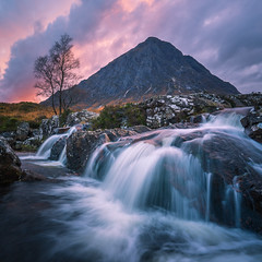 The Wonder of Nature (stefanblombergphotography.com) Tags: clouds colorful dusk glencoe highlands hill hillside landscape light mountain mountainrange nature outdoor river rock scotland sky softlight stefanblombergphotography sunset tree water waterfall color wwwstefanblombergphotographycom