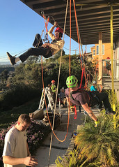 012 The Situation At Will Heasley's House (saschmitz_earthlink_net) Tags: 2018 california southerncaliforniagrotto christmasparty losangelescounty baldwinhills windsorhills party climbing practice