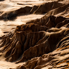 In Canyons 303 (noahbw) Tags: california d5000 nikon torreypinesstatereserve abstract autumn canyon desert erosion fractals natural noahbw patterns rock shadow square stone weathered landscape