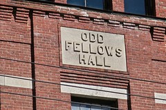 Odd Fellows Hall and Bank Building, Dover-Foxcroft, ME (Robby Virus) Tags: doverfoxcroft maine me odd fellows hall fraternal organization bank building architecture main street banking brick