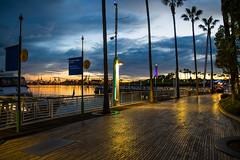 Long Beach Waterfront (Daren Grilley) Tags: dusk blue hour sunset long beach california pacific ocean walkway marina